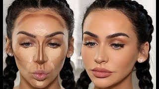 HOW I CONTOUR & HIGHLIGHT! | Carli Bybel