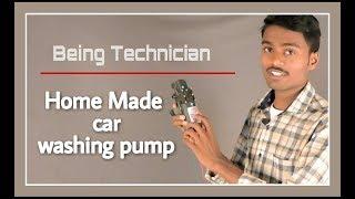 How to make bike & Car Washing Pump using 12V Motor || Water Sprayer || Being Technician