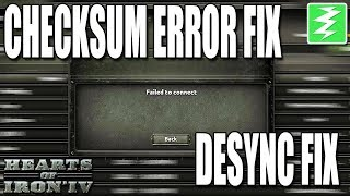 Fix Checksum Error / Fail To Connect / Desyncs Issues - Paradox Interactive Games