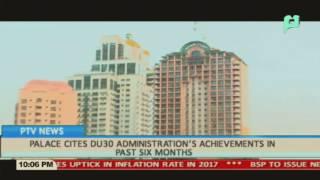 Palace cites Duterte admin's achievements in past 6 months