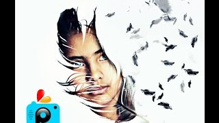 PicsArt Editing Tutorial | professional feather design | classical design