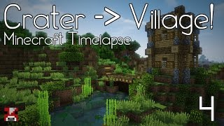 Minecraft Timelapse - TNT Crater into Village Tansformation - Pt. 4 (WORLD DOWNLOAD)