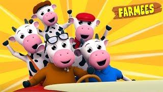 Five Little Cows | Nursery Rhymes For Kids | Children Songs