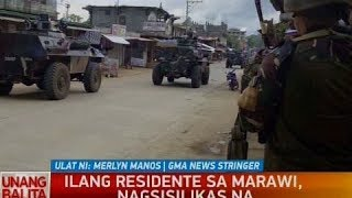 UB: Ilang residente sa Marawi, nagsisilikas na