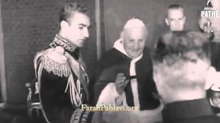 دیدار رسمی محمد رضا شاه پهلوی و پاپ در ایتالیا ۱۳۳۶