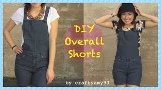DIY Overall Jean Shorts + How I Style Overalls