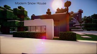 ✔ Minecraft: Minecraft Modern Snow House [HD]
