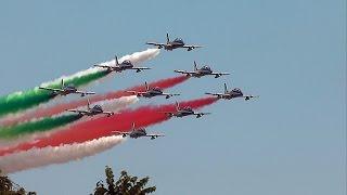 Frecce Tricolori Centenario Aeroporto Torino Aeritalia 2016