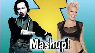 Mashup Marilyn Manson Pink Beautiful People So what