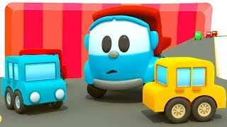 Leo the Truck & cars for kids. Parking. Car cartoon.