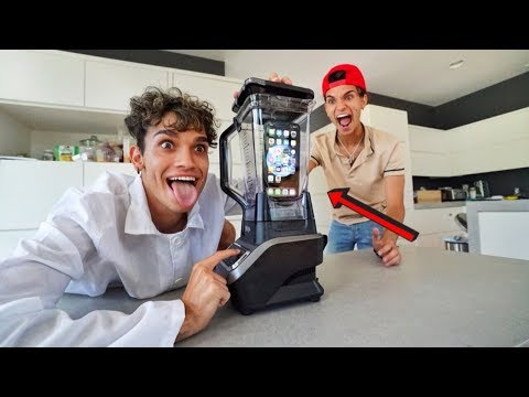 I CRUSHED my TWIN BROTHER S iPhone in a BLENDER