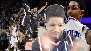 CURRY DROPS 40.. LOU WILL OUTPLAYS HIM! WARRIORS vs CLIPPERS HIGHLIGHTS REACTION