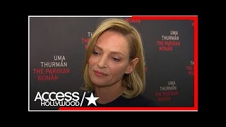 Uma thurman gets emotional about women speaking out on ual harassment in hollywood