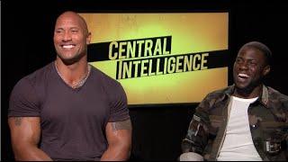 CENTRAL INTELLIGENCE interview - Dwayne THE ROCK Johnson, Kevin Hart