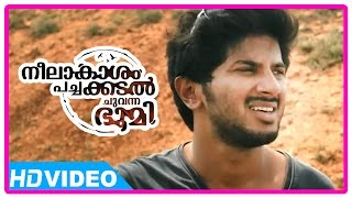 Neelakasham Pachakadal Chuvanna Bhoomi Movie | Scenes | Dulquer's bike breaks down | Sunny