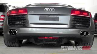 Heffner Audi R8 twin-turbo engine sound and acceleration