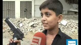 Dunya TV-24-08-2011-Weapons & Kids of Karachi