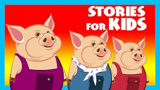 STORIES FOR KIDS - Three Little Pigs Story Compilation | Moral Stories By Kids Hut