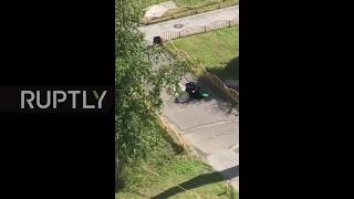 Russia: Assailant shot dead after stabbing rampage injures 7 *EXCLUSIVE*