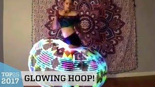 Mesmerizing LED Hula Hoop Dance   Top 25 of 2017