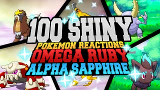 100 EPIC SHINY POKEMON REACTIONS! Pokemon Omega Ruby & Alpha Sapphire Shiny Montage