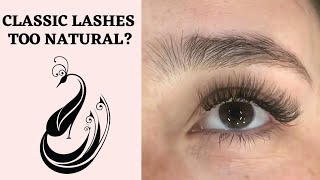 Eyelash Extensions 101 - What if Classic it too Natural- Hybrid Fix Tutorial