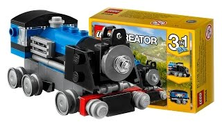 TRAINS FOR CHILDREN VIDEO Train LEGO Creator 31054 Blue Express Similar to Thomas Toys Review