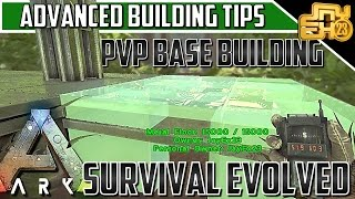 ARK ADVANCED PVP BASE DESIGN AND BUILDING TIPS (Layered Walls, Locations, Triple Foundations & MORE)