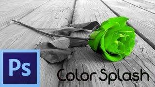 Photoshop CS6 Tutorial: Color Splash Effect (For Beginners)