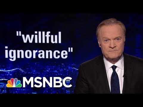 Rpt Donald Trump Has 'Stubborn Disregard' For Intelligence Briefings The Last Word MSNBC