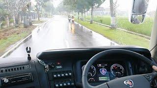 Test Drive Bus Matic PO Harapan Jaya Scania K360IB Opticruise