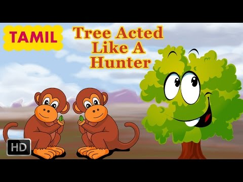 Jataka Tales - Monkey Stories for Children - Tree Acted Like A Hunter - Animated Cartoons for Kids