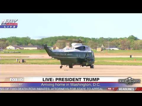 WATCH President Trump Arriving In Washington D.C. FNN