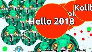 HELLO 2018! LEGENDARY AGAR.IO GAMEPLAY OF 2017 ( Agar.io Best Compilation )