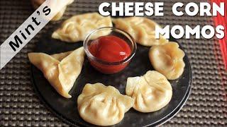 Cheese Corn Momos Recipe in Hindi-Indian Snacks Recipes-Vegetarian Recipes-Ep-111