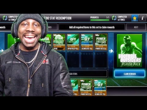 FOOTBALL OUTSIDERS PACK OPENING & PROGRAM HELP Madden Mobile 17 Gameplay Ep. 17