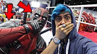 I MET DEADPOOL IN REAL LIFE!! *OMG MEETING DEADPOOL*