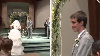 Bride sings Look at Me down the aisle