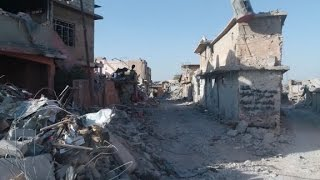 Drone footage shows Mosul