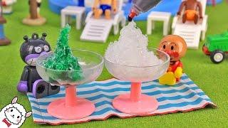アンパンマン おもちゃ かき氷がつくれる れいぞうこ Anpanman toy