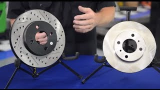 What's the difference between cross drilled, slotted, and vented rotors? - Andy's Auto Sport