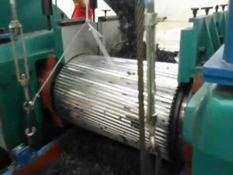 Linha industrial de produção de pó de borracha de pneu ecotire .br