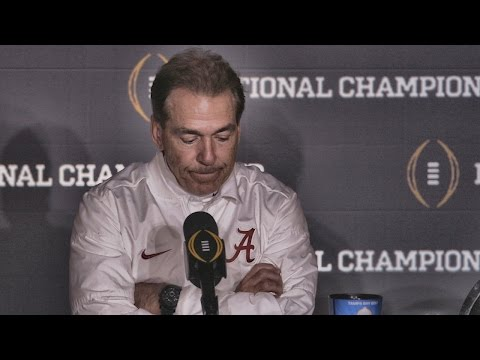 Hear what Nick Saban said after Alabama s last second loss to Clemson