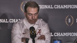 Download Hear what Nick Saban said after Alabama's last-second loss to Clemson 3Gp Mp4