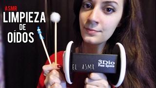 ♡ASMR español♡ LIMPIEZA DE OÍDOS Roleplay♥ (sonidos cosquillosos) *3Dio*