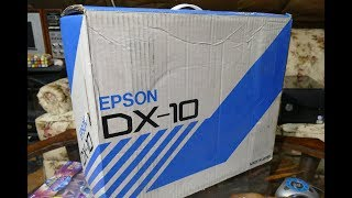 Unboxing A New In Box 1985 Epson DX-10 Printer Found At Goodwill