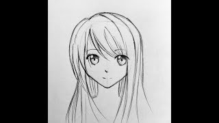 How to draw basic anime face without drawing a circle