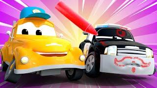 El lavado de Autos de Tom -  Matt el Carro POLICIA esta Cubierto de Graffiti - Dibujos animados