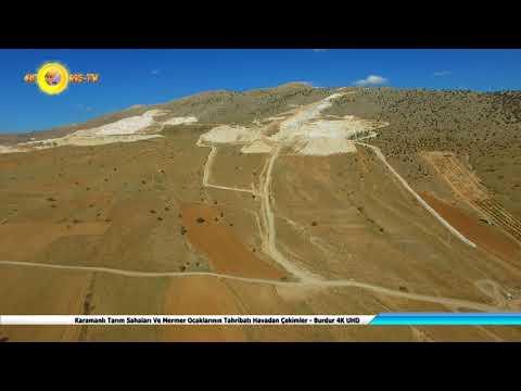 Karamanlı Tarım Sahaları Ve Mermer Ocaklarının Tahribatı Havadan Çekimler Burdur 4K UHD
