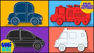 Umi Uzi | color book | learn colors with cars and trucks | educational videos for kids